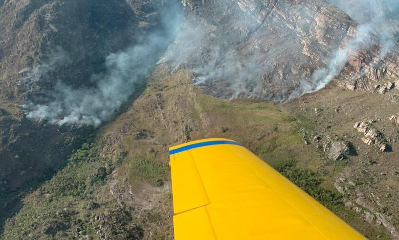 Rio de Contas Chuva ajuda a controlar novo incêndio florestal que atingiu vegetação