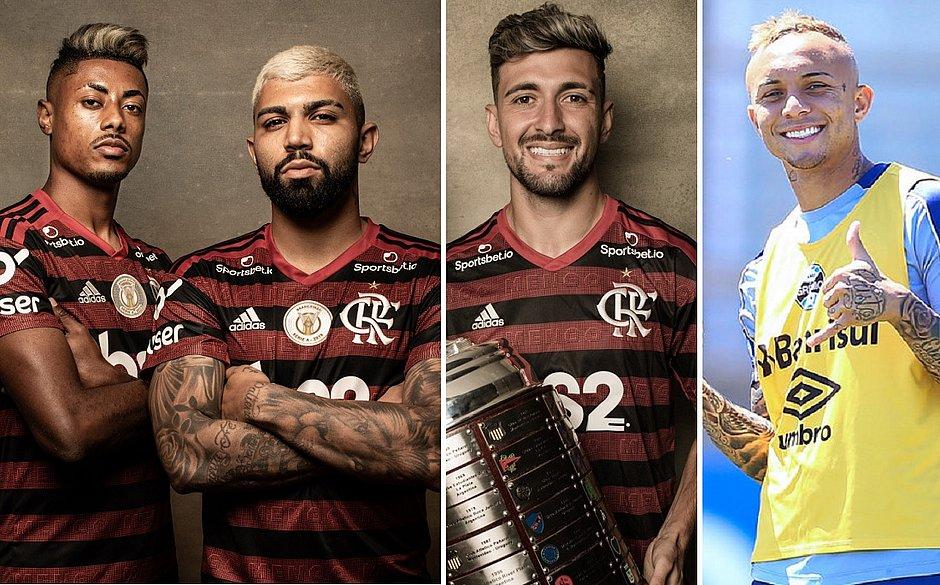 Trio do Flamengo e Cebolinha concorrem ao prêmio Rei da América